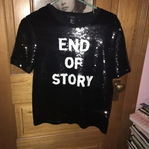 End Of Story Sequined Forever 21 Shirt